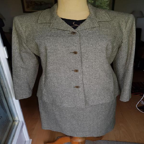 Tailleur jupe camaïeu laine et acrylique (40/42) occasion,
