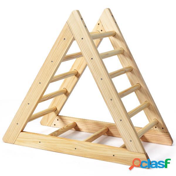 Costway échelle d'escalade triangulaire en bois de pin pour enfants plus de 3 ans