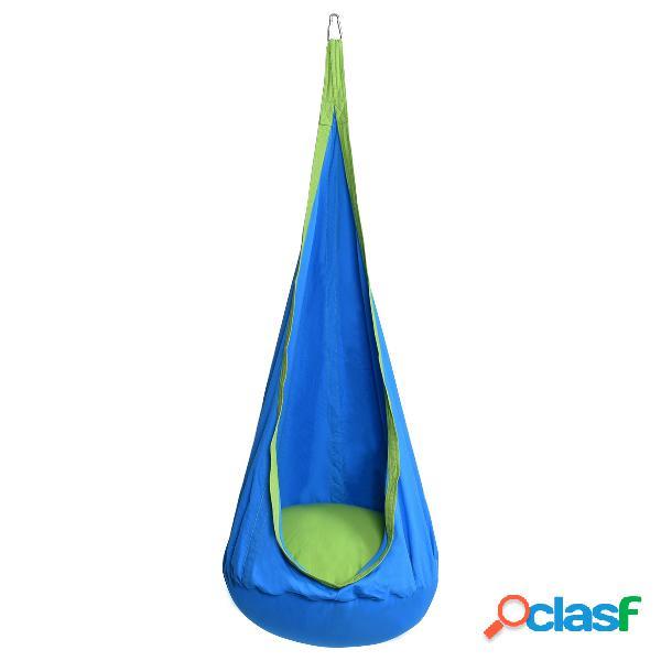 Costway hamac enfant siège chaise suspendu pour enfant charge max 80kg bleu