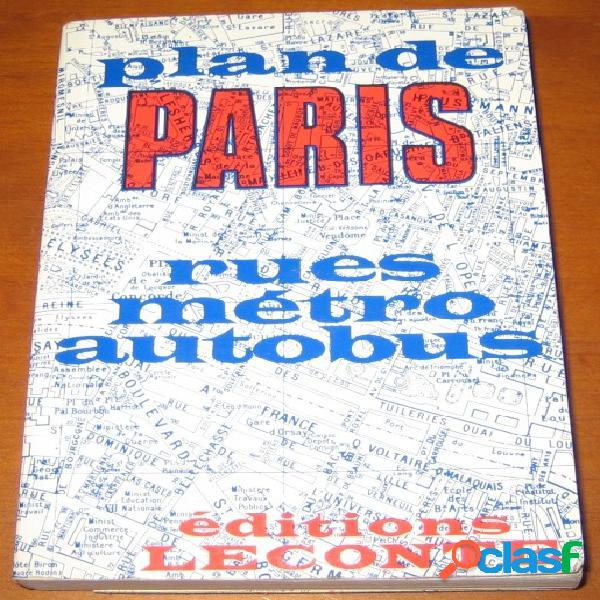 Plan de paris (rues, métro, autobus)