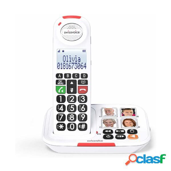 Téléphone sans fil swissvoice xtra 2155 touches photoc blanc