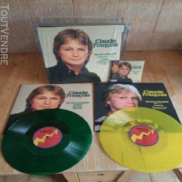 Claude françois coffret 2 vinyles vert et jaune + cd.