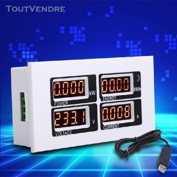 Compteur de puissance de surveillance électrique testeur