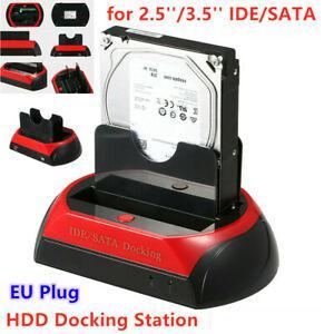 """Dock hdd station avec deux disques pour 2,5"""" 3,5"""" ide sata"""