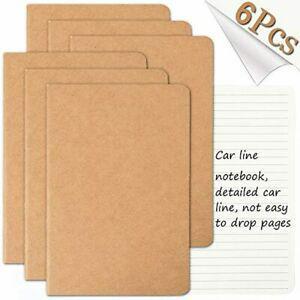 Ensemble de carnets de voyage avec 6carnets de notes pour