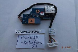 Module bouton power +usb pour acer aspire 7736