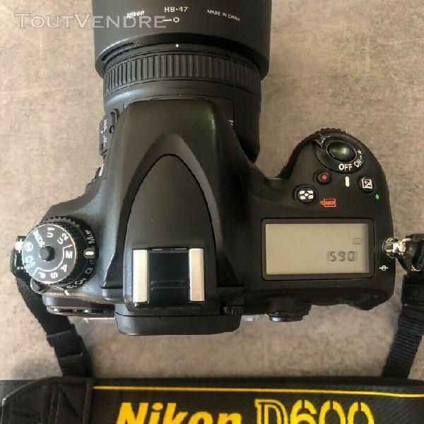 Nikon d600 avec objectif & télécommande