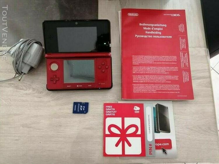 Pack nintendo 3ds rouge metallic red completboîte,