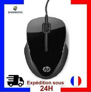 Souris optique hp mouse x1500 wired filaire noir pc