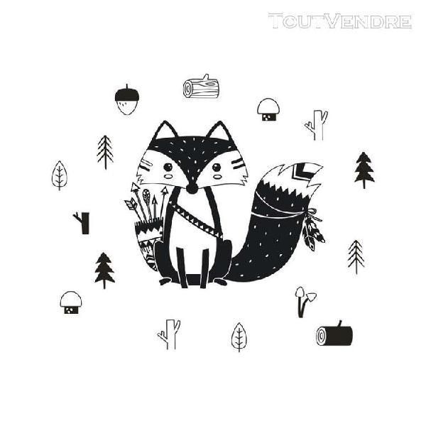 Style nordique petits animaux pvc autocollant stickers murau