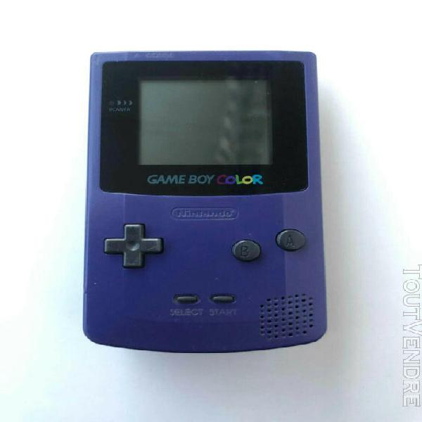 Game boy color violette, console de jeux video vintage retro