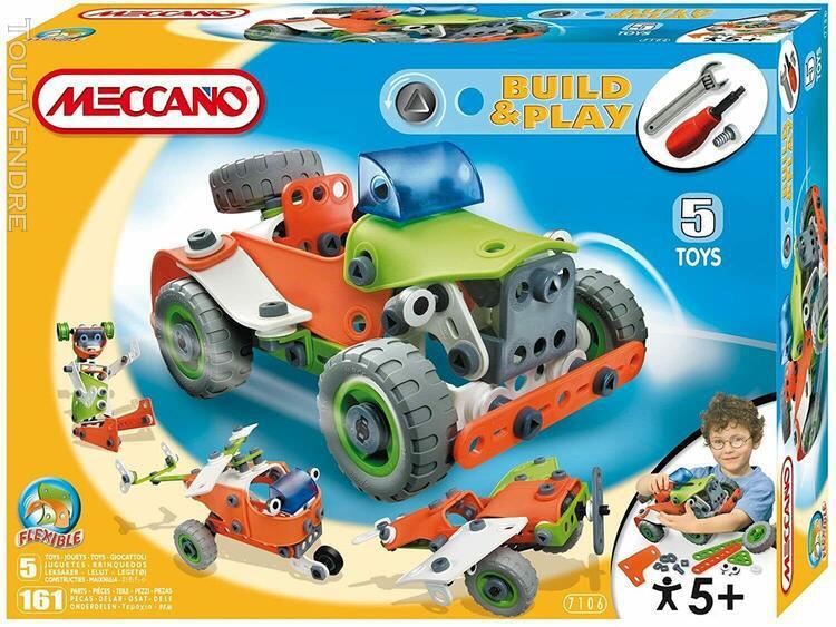 Meccano - jeu de construction - 5 modèles - 7106