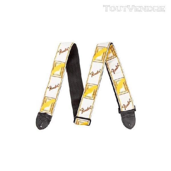 Sangle fender monogrammed nylon blanc/jaune/marron