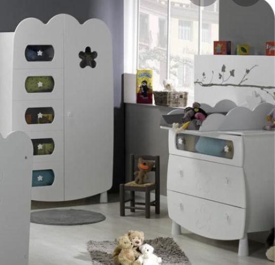 Chambre complète avec lit évolutif occasion,