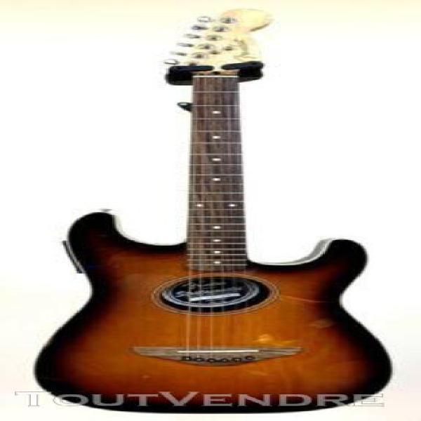 Guitare folk electro-acoustique fender stratacoustic sunburs