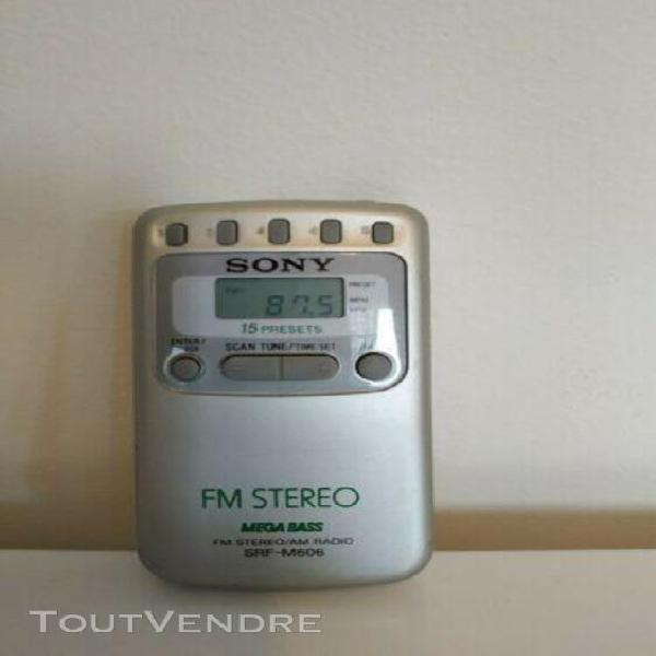 Vintage radio portable am/fm sony walkman srf-m606 mega