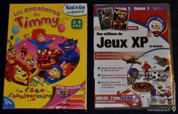 2 jeux video pc pour enfants - très bon état occasion,