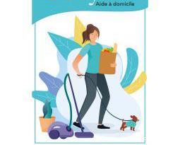 Aide ménagère à domicile.