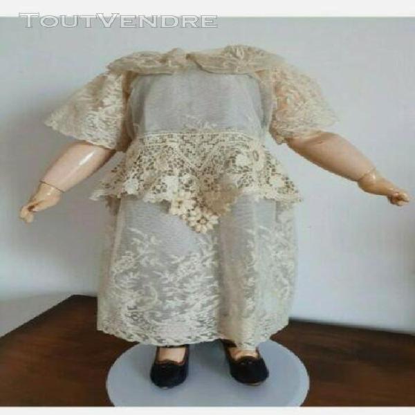 Belle robe ancienne pour bb jumeau au autre poupée