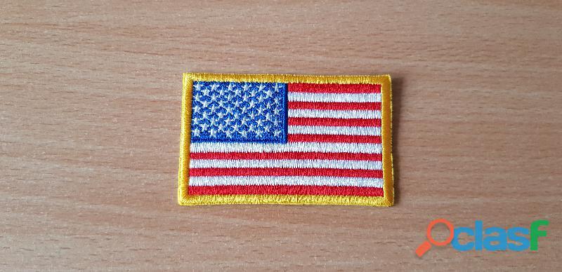 ecusson brodé drapeau américain 8x5 cm thermocollant