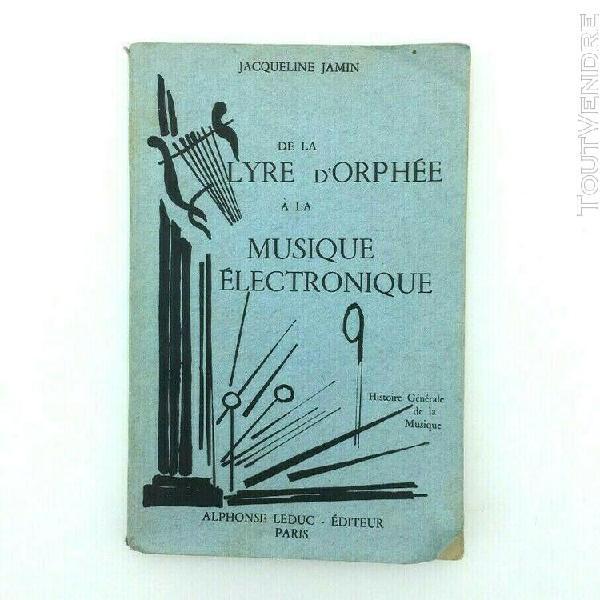 Livre vintage histoire de la musique - lyre d'orphée à la