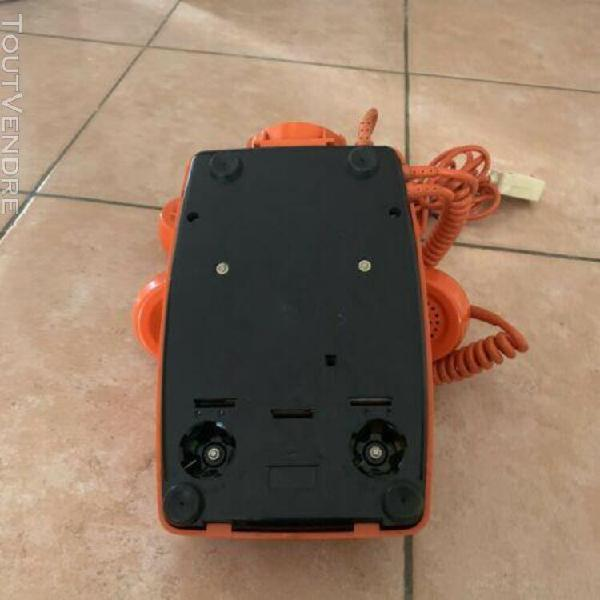 Vintage telephone cadran orange socotel s63