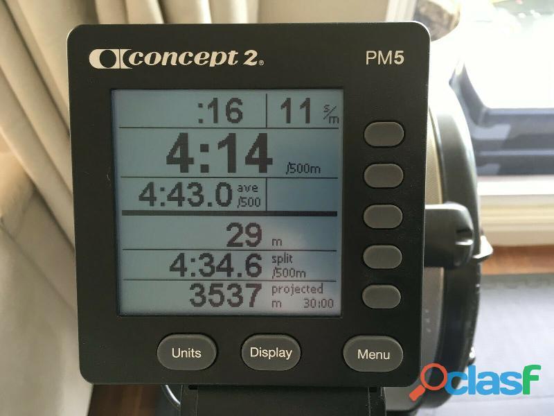 Rameur concept2 modèle D écran PM5 2