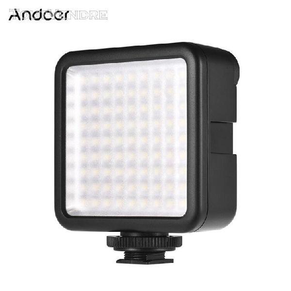 Andoer w81 mini interlock camera panel led panneau 6.5w dimm
