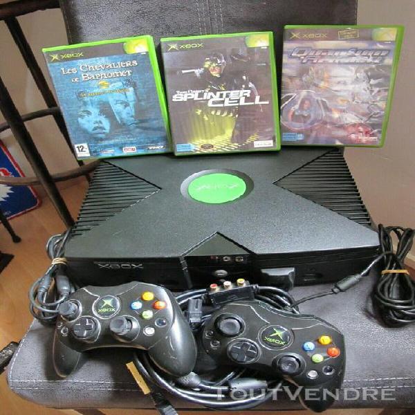 Console xbox première génération complète + 3 jeux