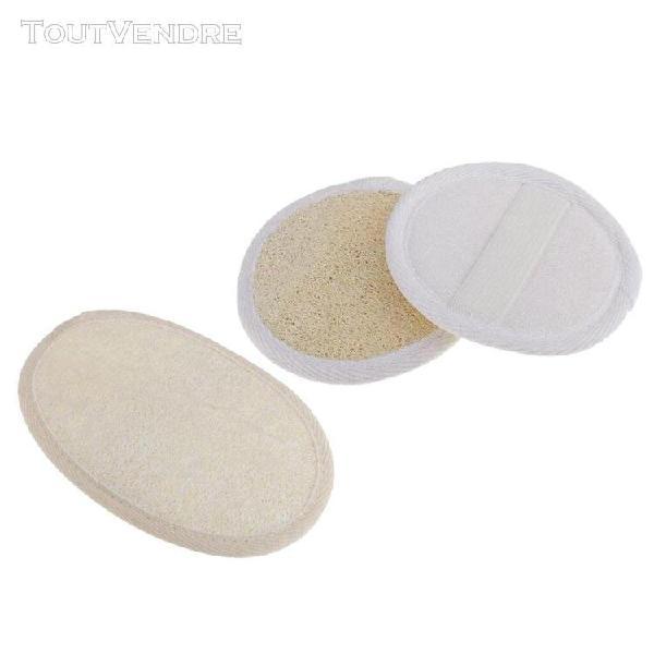 3pcs loofah naturel éponge de nettoyage en profondeur pour