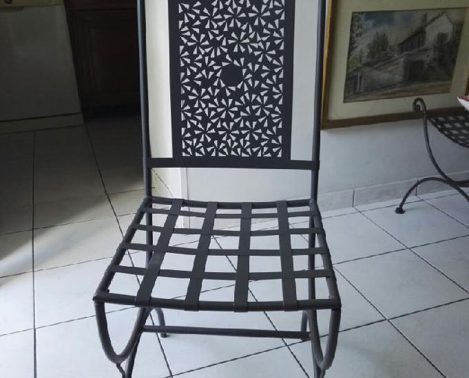 Chaises marocaines acier de jardin ou d'intérieur, neuves