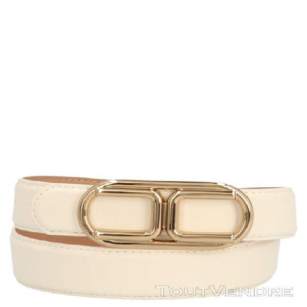 Elisabetta franchi femme ct37s06e2193 blanc ceinture