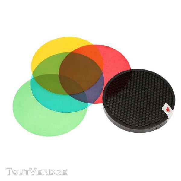 Godox ad-s11 pack de couleur filtre gel grille nid d'abeille