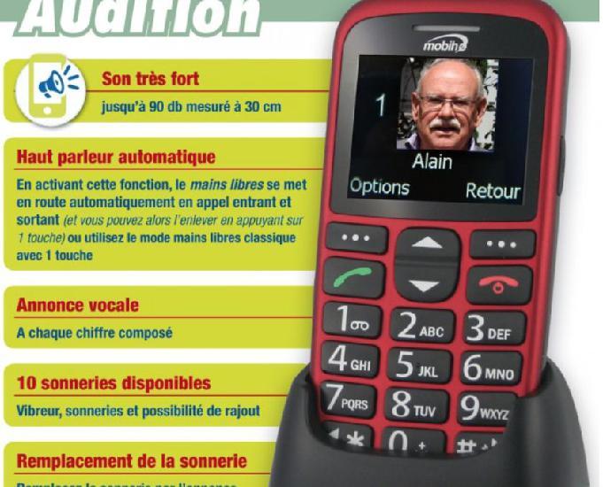 Téléphone portable neuf adapté séniors