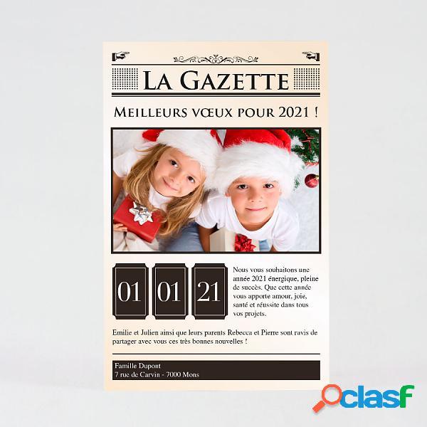 Cartes de vœux - carte de vœux à la une (échantillon)