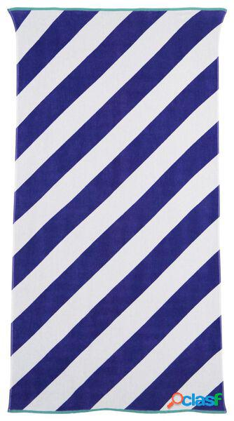 Hema serviette de plage velours 90 x 180 (bleu)