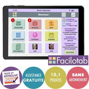 Tablette tactile alcatel 1t10 facilotab seniors 100% neuve,