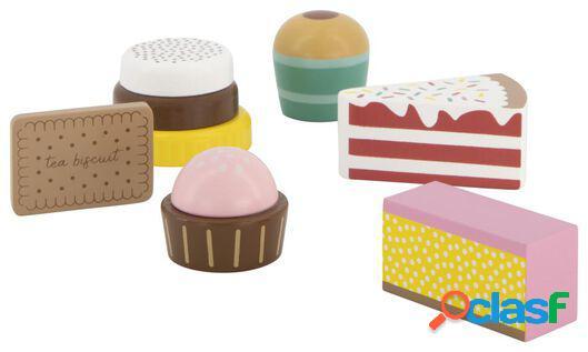 Hema 6 gâteaux en bois