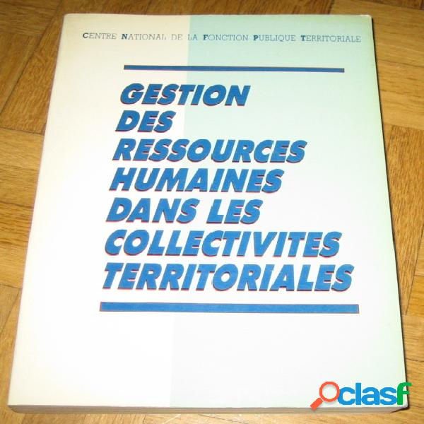 Gestion des ressources humaines dans les collectivités territoriales
