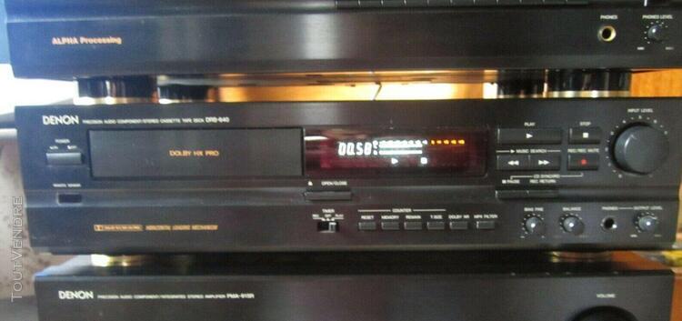 Denon drs 640 lecteur cassette chaine hi fi noir drs-640 pla