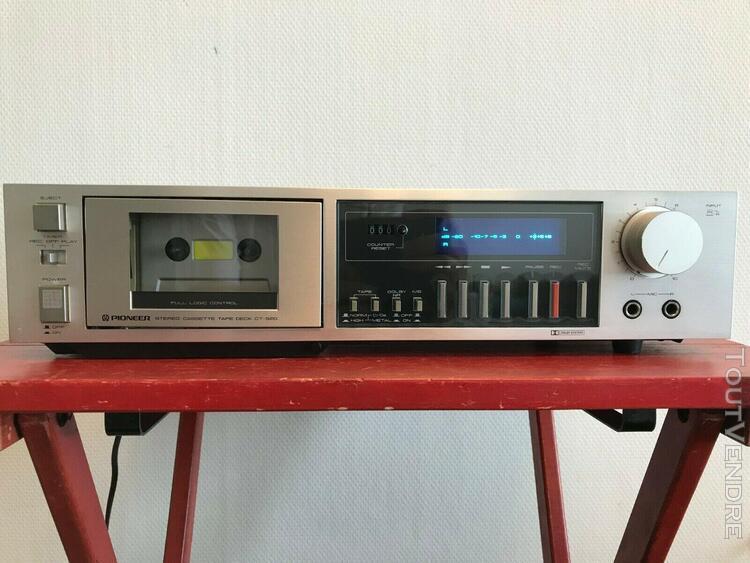 Pioneer ct-520 stereo cassette tape deck platine de cassette