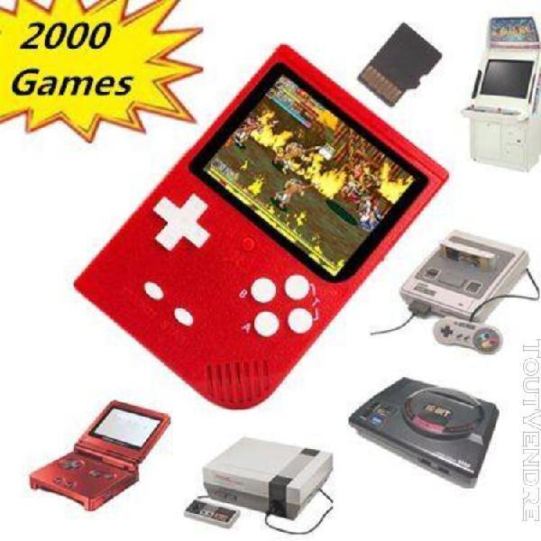 Rétro mini console de jeu portable 2000 jeux avec fente