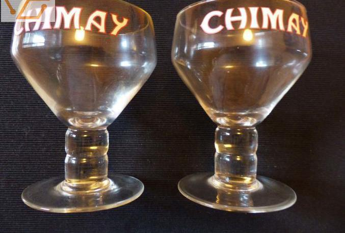 2 anciens verres bière chimay occasion