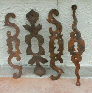 4 ancienne entrée de serrure en fer porte meuble