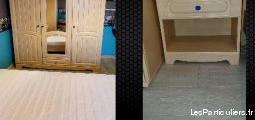 Chambre complète 1 pers matelas, sommier, lit...