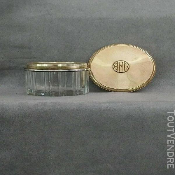 maison gustave keller poudrier ou pot à crème vers 1920