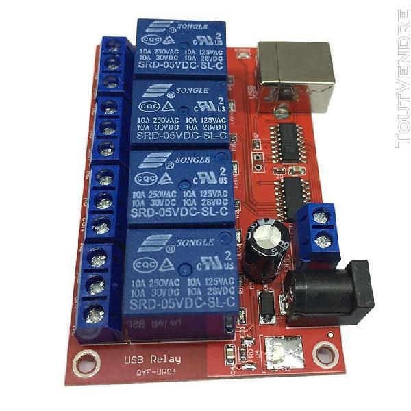 Module de relais 4 canaux controleur reseau contrôle mcu