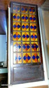 Porte vitraux anciens vintage