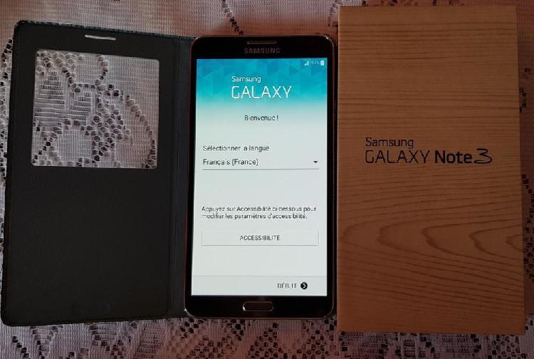 Samsung galaxy note 3 noir avec boîte origine occasion,