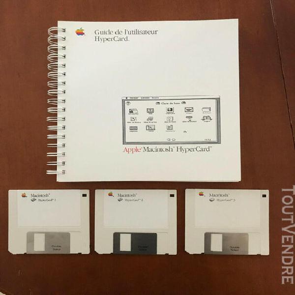 Vintage logiciel apple macintosh hypercard 1987 et hypertalk